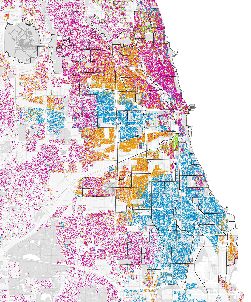 Chicago racial dot map